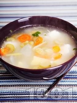 Зеленчукова супа с картофи, фиде, целина и сирене - снимка на рецептата